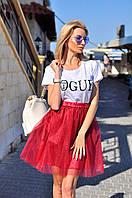 Женская фатиновая юбка на подкладке - разные расцветки