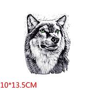 Термонаклейка Волк мал 1 шт, наклейка на одежду