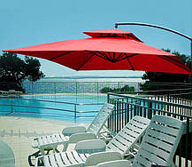 Садовый зонт Desco ,250х250 см. бежевый, фото 2