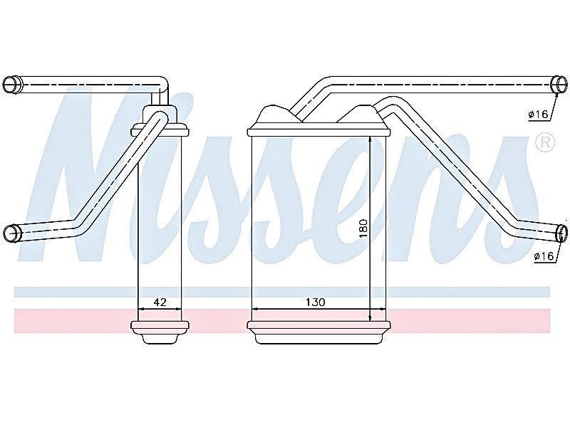 Радиатор печки Нексия (толстый) Nissens 76511.