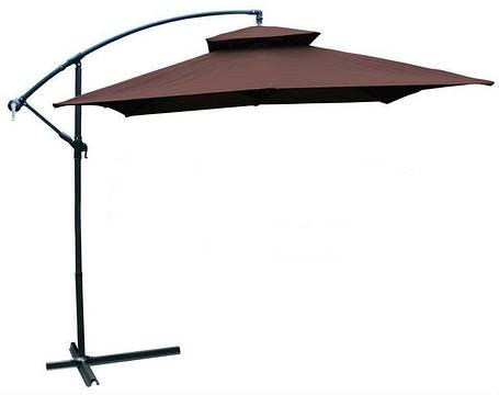 Садовый зонт Desco ,250х250 см.коричневый, фото 2