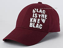 Бейсболка бордового цвета Black&White с белой надписью
