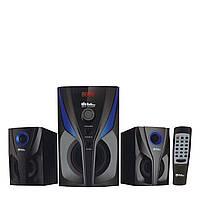 Колонки 2.1. Музыкальный центр. Акустика для дома. 25Вт. USB/SD/AUX/Bluetooth/FM-радио.(009)