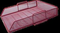Горизонтальный металлический лоток для хранения бумаг buromax bm.6254-05 красный