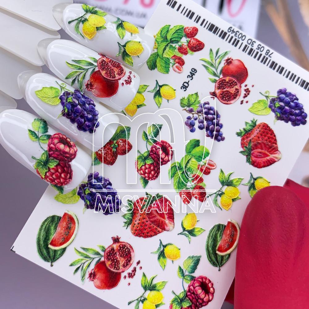Слайдер дизайн 3D-349 фрукти