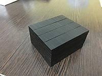 Неодимовый магнит прямоугольный 20*6*2 мм (Black epoxy) N42. Польша.