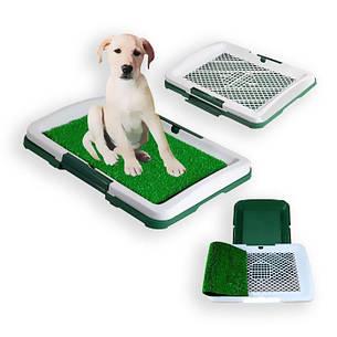 Туалет для собак Puppy Potty Pad лоток для щенков горшок трава, фото 2