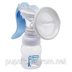 Молокоотсос ручной Dr. Brown's  бело-голубой