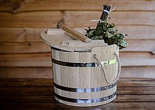 Запарник для веников дубовый 15 литров, фото 2