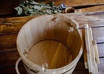 Запарник для веников дубовый 15 литров, фото 3