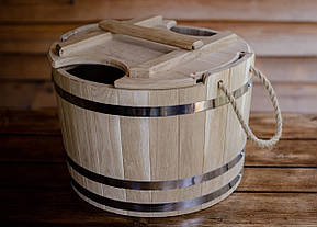 Запарник для веников дубовый 25 литров, фото 2