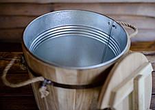 Запарник для веников дубовый 15л с металлической вставкой, фото 2