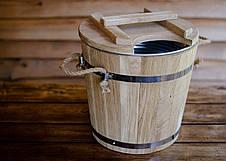 Запарник для веников дубовый 15л с металлической вставкой, фото 3