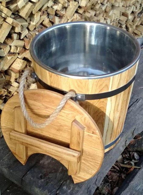 Запарник для веников дубовый 15 литров с нержавеющей вставкой