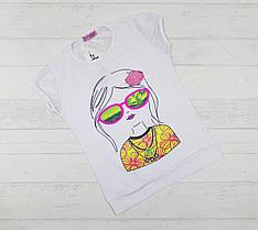 """Детская футболка для девочек """" Модница"""" 9,10,11,12 лет"""