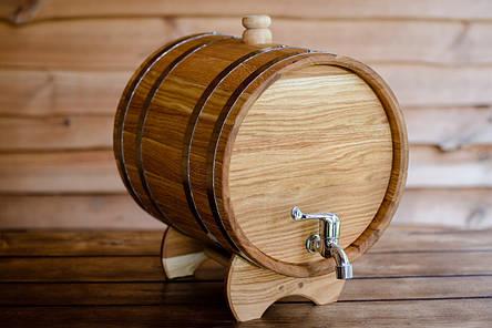Жбан дубовий для напоїв 30 літрів (бочка для вина), фото 2