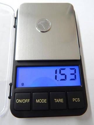 Отличные карманные весы с большим максимальным весом 6285pa-500 г, высокоточные, подсветка экрана, чашка 2*AAA, фото 2