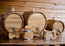 Бочка дубовая 25л для вина, коньяка, пива, водки, фото 3