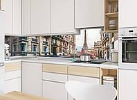 Кухонный фартук Париж (фотопечать скинали пленка для стеновых панелей Франция Эйфелева башня) 600*2500 мм, фото 1