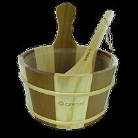 Набір Greus сосна/ялина (зграя 4 л + черпак) з пластиковою вставкою для лазні та сауни