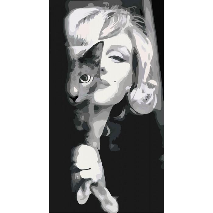 Картина по номерам Идейка - Утонченная Монро 26x50 см (КНО2667)
