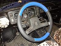 Оплетка на руль 2101, Таврия, 1102, 1103, 1105 (руль две спицы) синяя