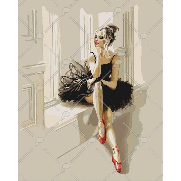 Картина по номерам Идейка - Изысканность балерины 40x50 см (КНО4548)