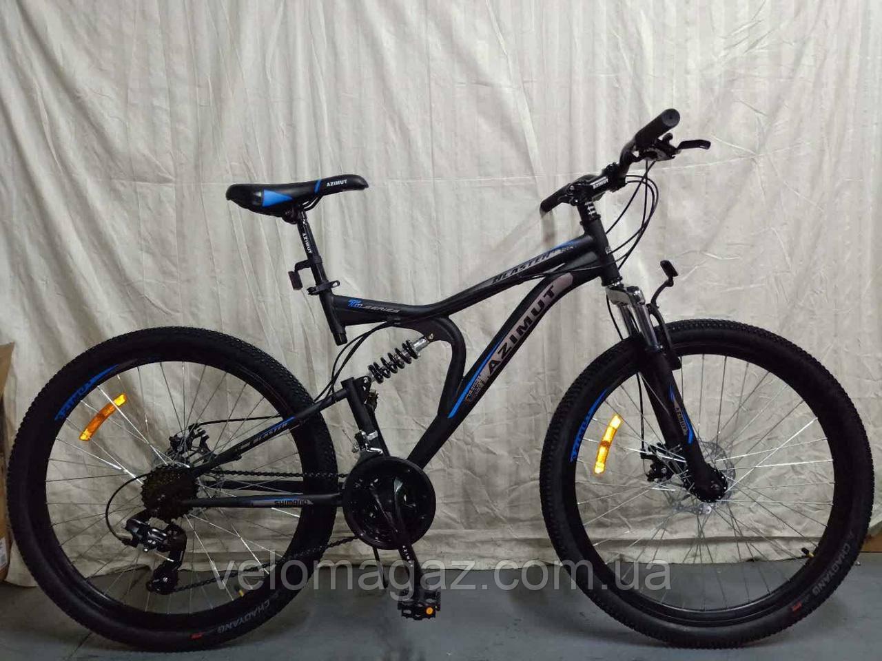 """Велосипед горный двухподвесной  Blaster 24"""" черно-синий"""