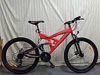 """Велосипед горный двухподвесной Azimut Shock 24"""" красный, фото 1"""