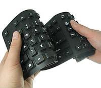 Клавиатура резиновая гибкая 106 клавиш USB Black