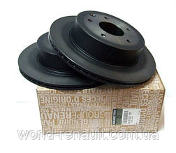 Комплект задних тормозных дисков на Рено Колеос, Ниссан Кашкаи, X-Траил / Renault (Original) 432003112R