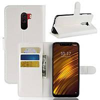 Чехол-книжка Litchie Wallet для Xiaomi Pocophone F1 Белый