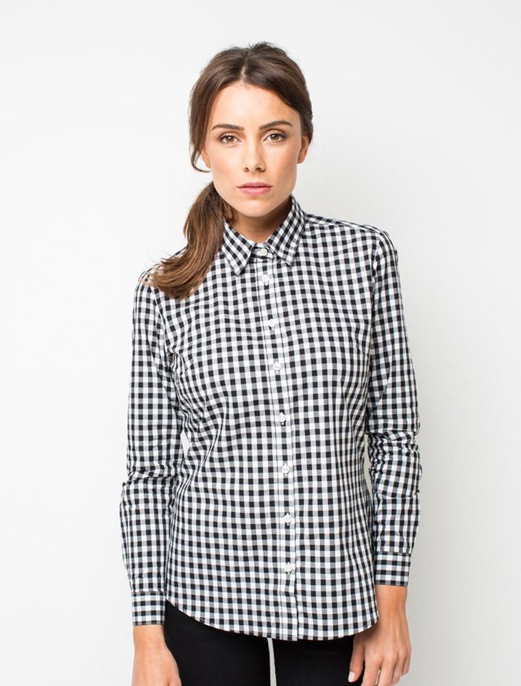 Рубашка для официанта женская клетчатая Atteks - 02313