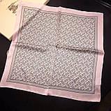 Платок Burberry шелковый 50х50, фото 5