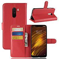 Чехол-книжка Litchie Wallet для Xiaomi Pocophone F1 Красный