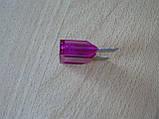 Предохранитель большой 100А 32V плоский штыревой 29х34мм Tesla Тесла фиолетовый корпус полупрозрачный 100а 32в, фото 3