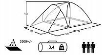 Палатка Presto Furan 3 проклеенные швы, фото 3