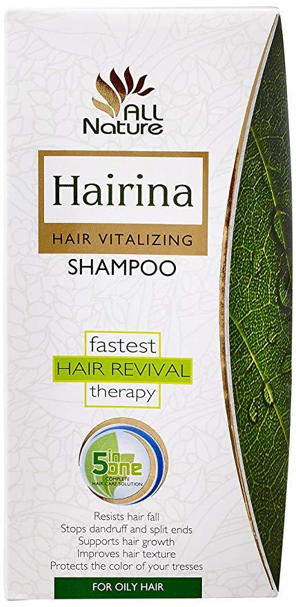 Шампунь лечебный Hairina (Хайрина) для жирных волос Sahul 220 мл