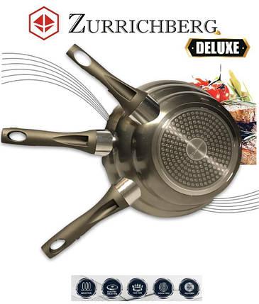 Набір сковорідок 3 шт різні розміри Zurrichberg ZB 2017 комплект мармурових сковорідок 20/24/28 см, фото 2