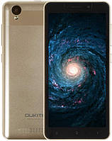 "Смартфон Oukitel C10 1/8Gb Gold, 3/2Мп, 5.5"" IPS, 2SIM, 3G, 2000мАh, 4 ядра, MT6580"