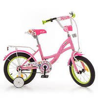 Детские двухколесные велосипеды для девочек PROFI 14 Дюймов.Y1421-1 купить оптом и в розницу в Одессе 7 км