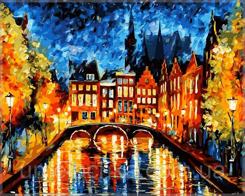 Раскраска по номерам Babylon  Ночь в Амстердаме