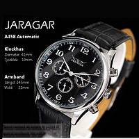 Оригинальные часы JARAGAR PANTHER. Качественные мужские часы. Кожаный ремешок. Механические часы. Код: КЧТ5, фото 1