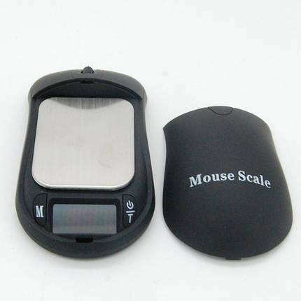 Весы-мышь портативные mouse 6246pa, 100г, с функцией тарирования, авто отключение, 5 мер веса, питание 2*ААА, фото 2