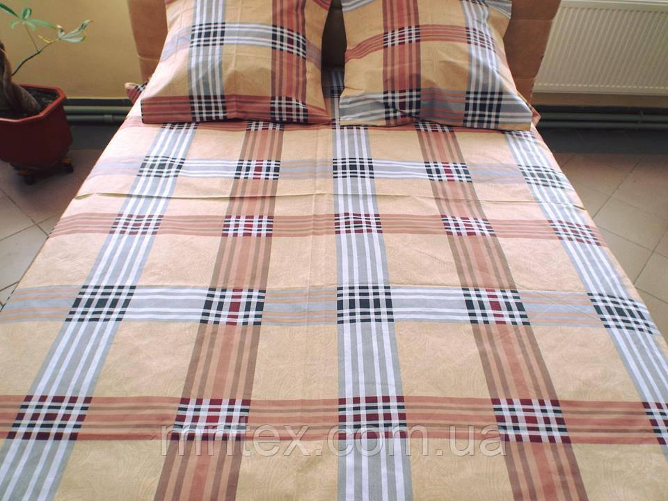 Комплект постельного белья бязь Голд Шотландка