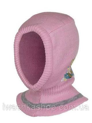 Стильная розовая шапка - шлем еврозима с Frozen, Холодное сердце, на девочек, Disney