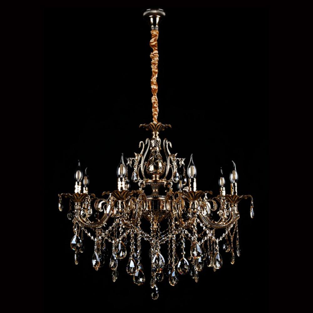 Классическая люстра-свеча на 8 лампочек СветМира VL-2117/8 (золотая)