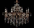 Классическая люстра-свеча на 8 лампочек СветМира VL-2117/8 (золотая), фото 2