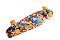 """Скейт Penny Board  Nickel 27"""" Graffity. Светящиеся колеса (пенни борд), фото 1"""