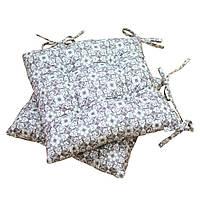 Подушка на стул узор на сером